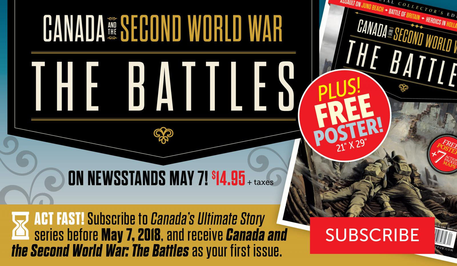 Act Fast! Subscribe to Canada's Ultimate Story before May 7!