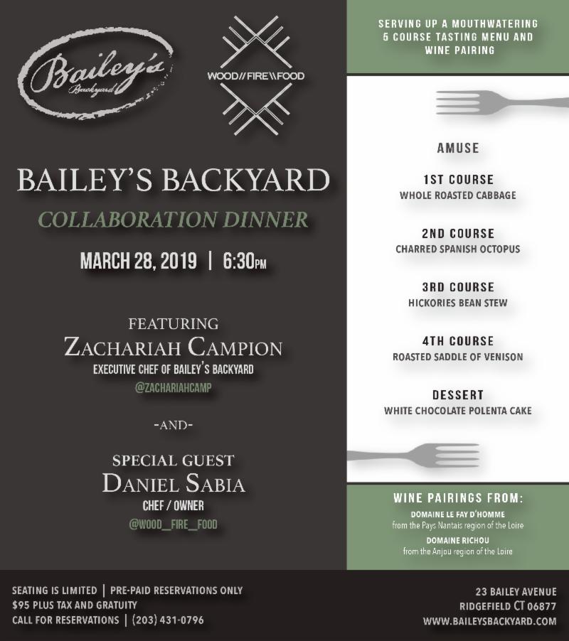 Baileys Collaboration Dinner March 2019