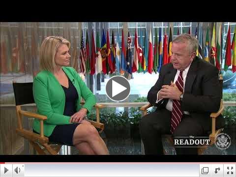 US State Department spokesperson Heather Nauert spoke with US Deputy Secretary of State John Sullivan on his recent trip to Europe, where he visited Ukraine, Germany, Italy, Latvia and Belgium. To watch the video please click on image above