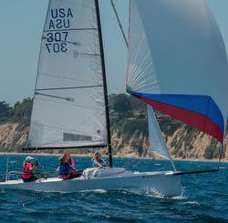 J/70 sailing Fiesta Cup off Santa Barbara, CA