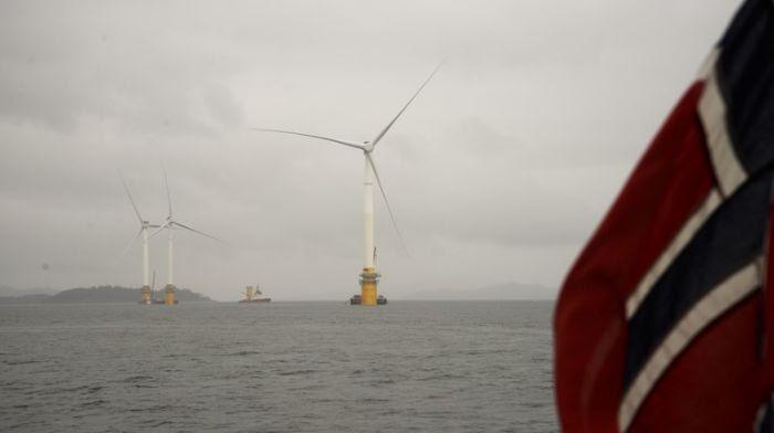 Les premières éoliennes Hywind installées au large de l'Ecosse