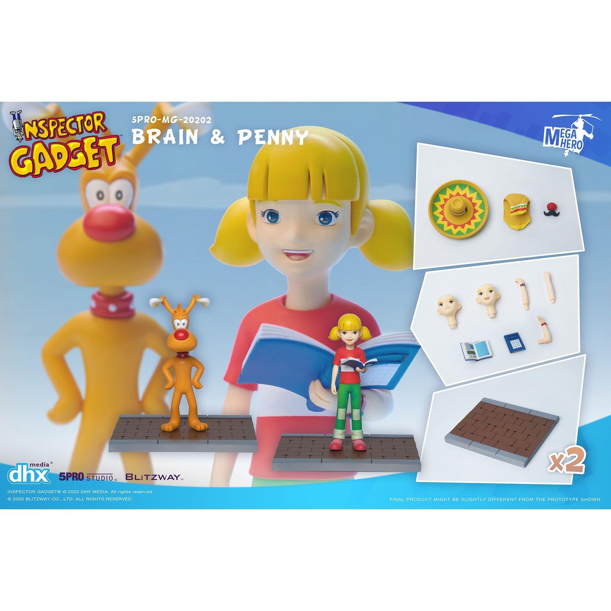Image of Inspector Gadget MEGAHERO Series - Brain & Penny 1:12 Scale Action Figure Set - Q4 2020