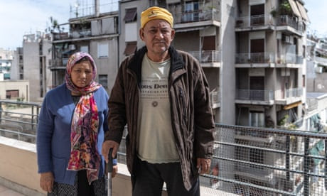 An Afghan refugee couple in Athens