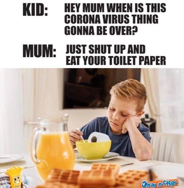 Eat toiletpaper meme