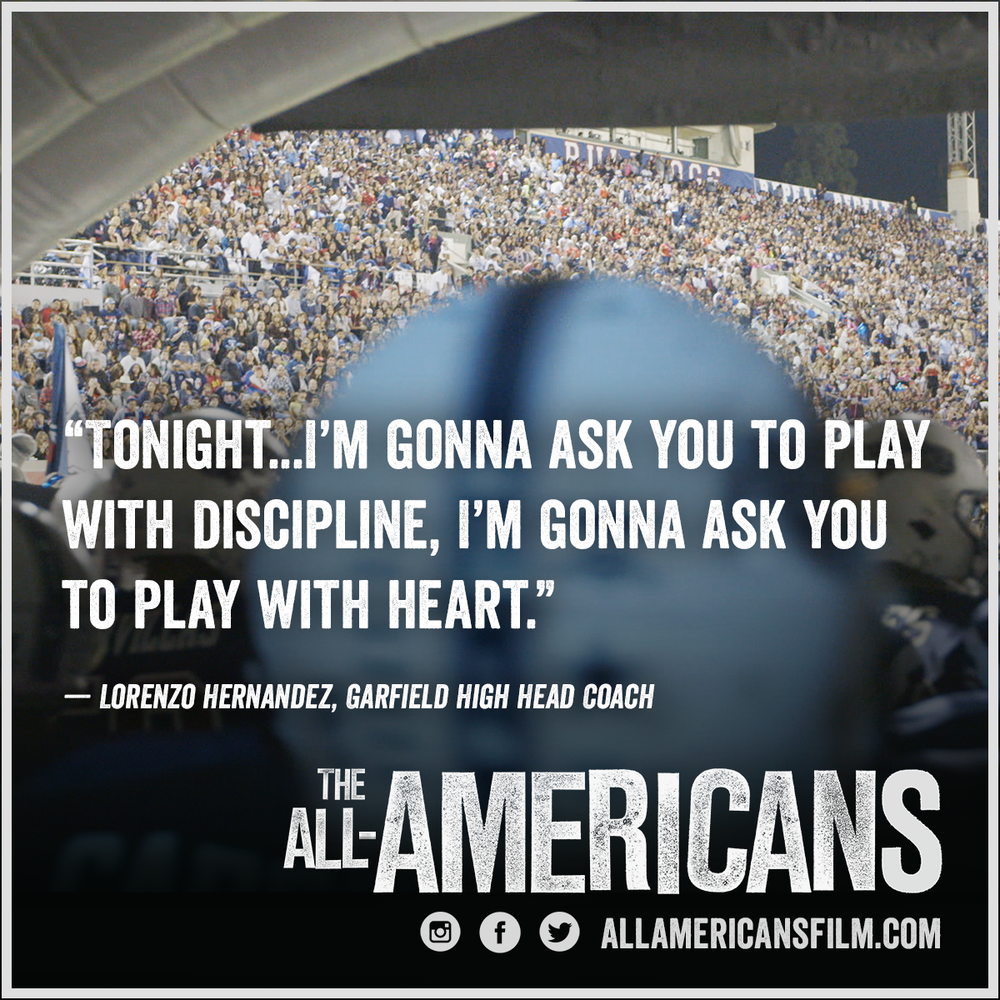 Garfield coach Quote - The All Americans