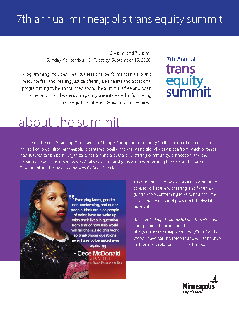 Trans Equity Summit Flyer