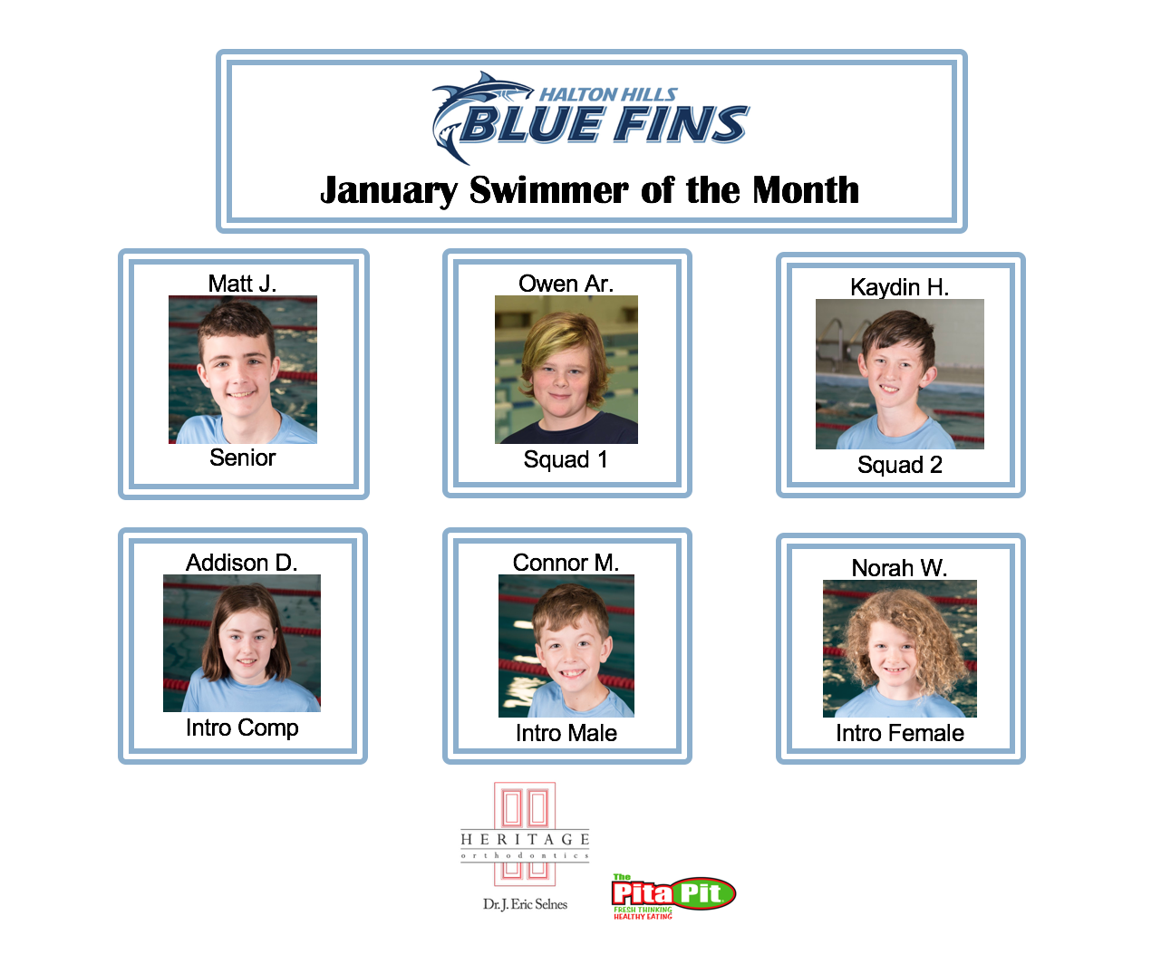January Swimmer of the Month