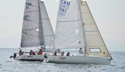 J/80 sailboats- sailing off Toronto, Canada