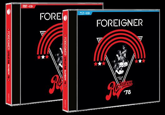 FOREIGNER en CD+DVD et CD+Blu-ray