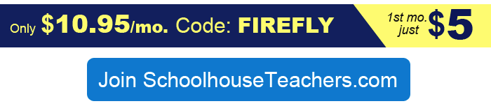 Join SchoolhouseTeachers.com during the June Firefly Special to get your Ultimate Membership (PreK-12) for just $10.95mo (1st mo. $5) with CODE FIREFLY