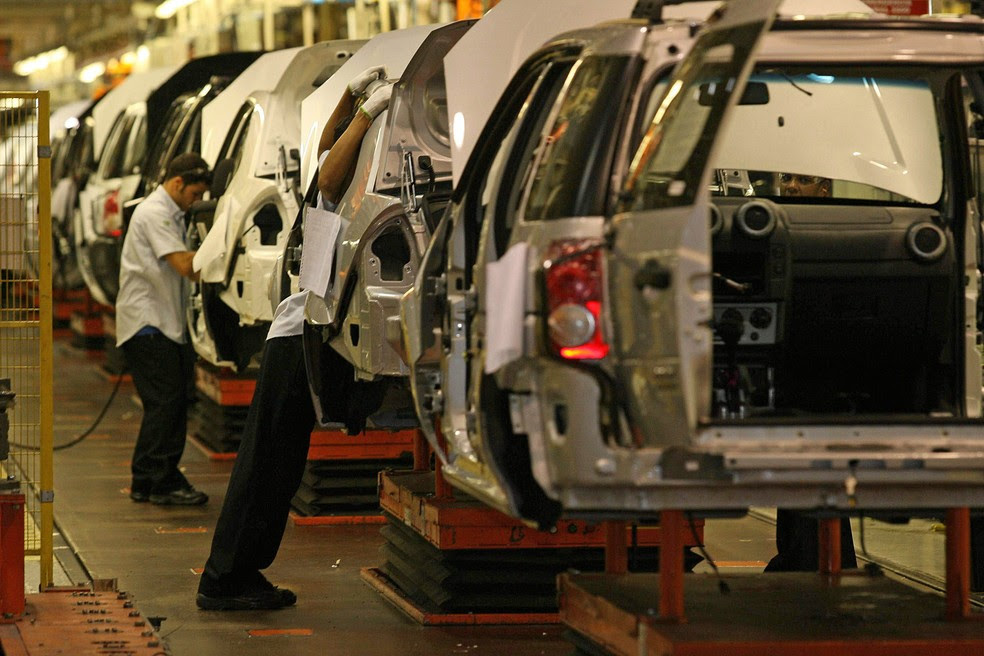 Veículos EcoSport são montados na fábrica da Ford em Camaçari, na Bahia — Foto: Wilson Pedrosa/Estadão Conteúdo/Arquivo
