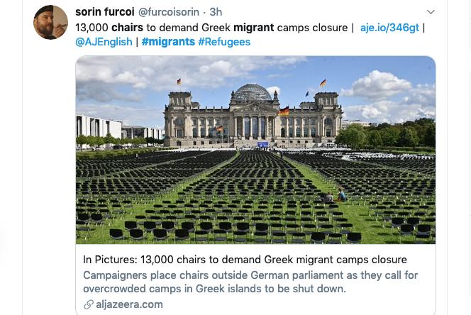 A screen grab of a tweet from Sorin Furcoi