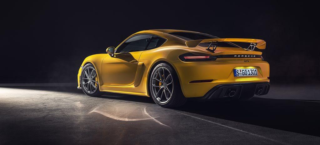 Porsche's screaming flat-six Cayman GT4 revealed