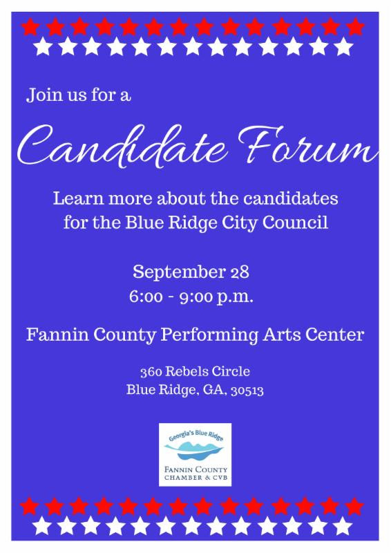 Candidate Forum Poster