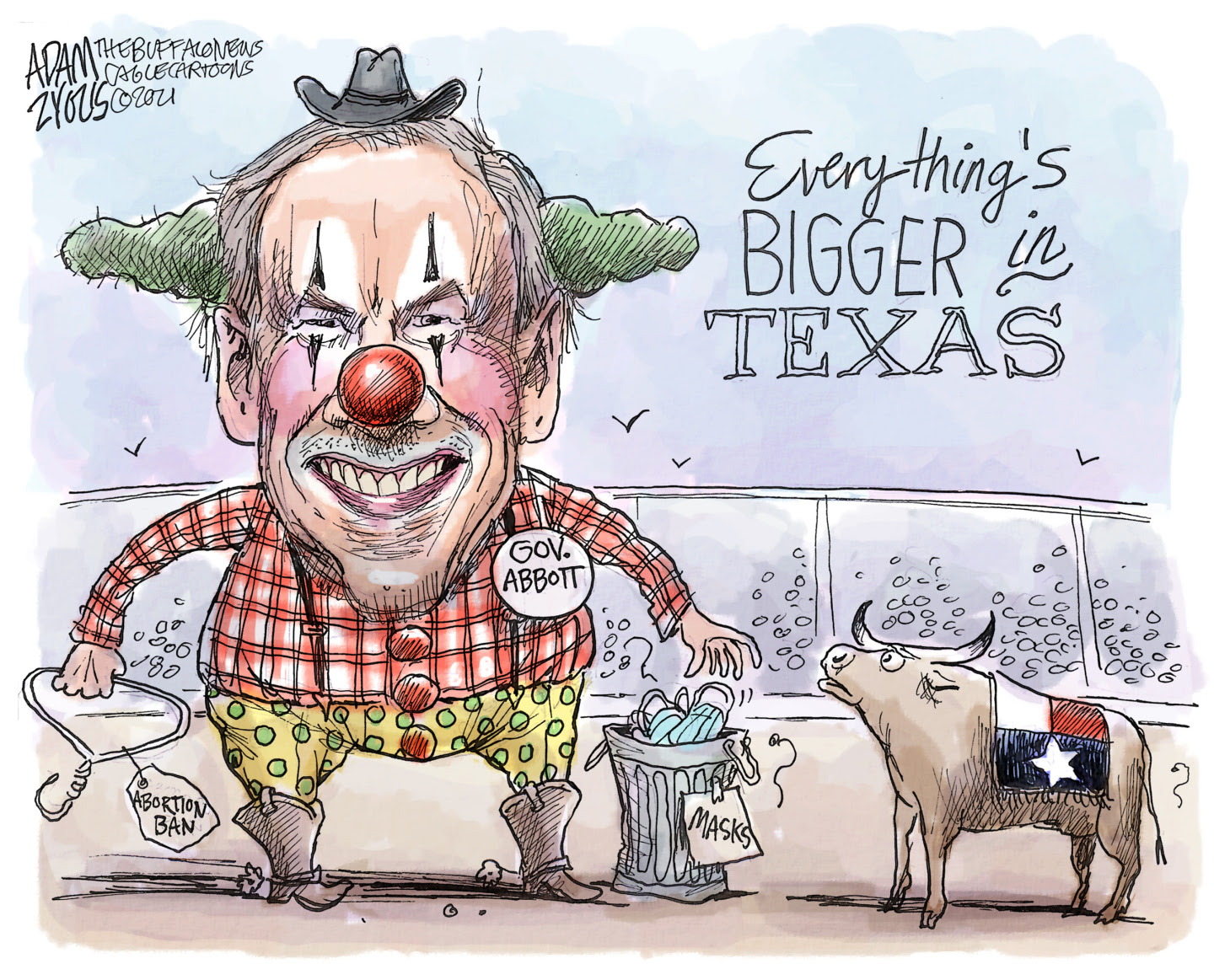Greg Abbott ignores risks from COVID and focuses on the abortion ban and bounties to vigilantes.