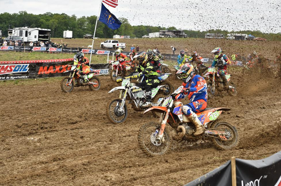 Zach Nolan (#721) earned himself the XC2 250 Pro holeshot award, and the class win today in Peru, Indiana.