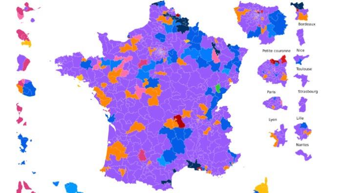 Découvrez les résultats du premier tour dans votre circonscription