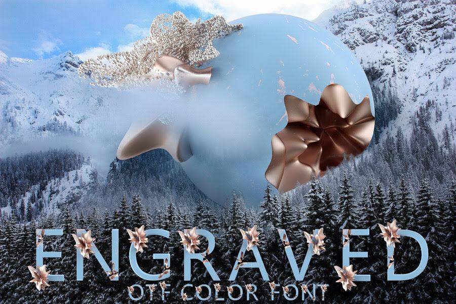 Engraved OTF Color Font