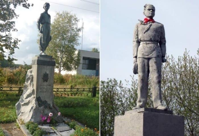 Памятники Павлику Морозову | Фото: oblgazeta.ru и oursociety.ru