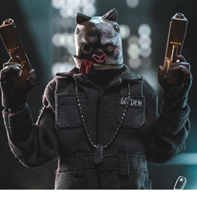 Death Gas Station Golden Dog 1/12 Scale Figure