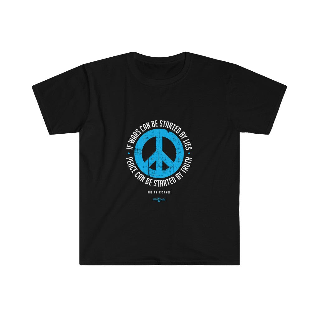 Peace can be started by Truth - Men's Fitted Premium Tee