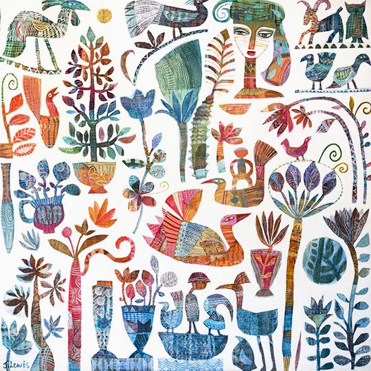 Journey through Garden wth Friends by Jill Lewis