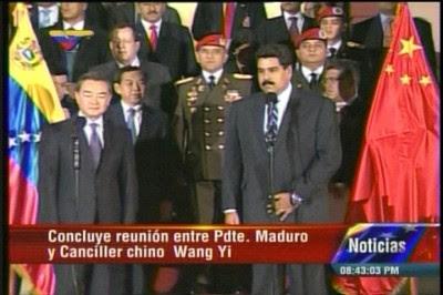 Presidente Maduro y Wang Yi