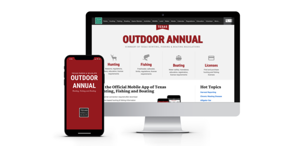 Outdoor annual on computer and smartphone