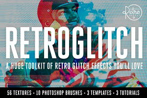 RetroGlitch | Photoshop Effect Pack