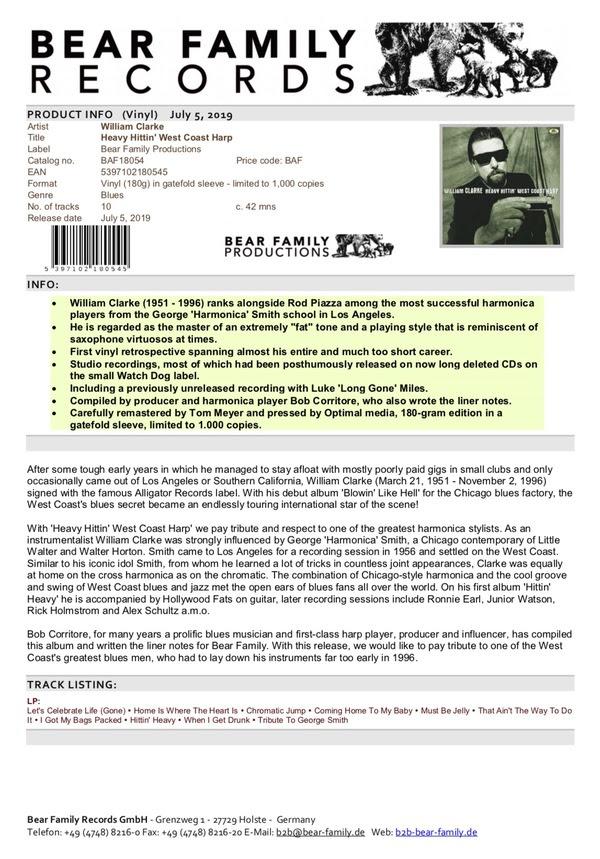 2019 Archives | Bob Corritore - Official Website