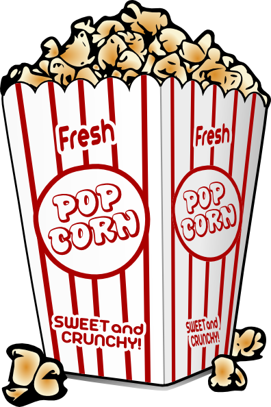 Image result for popcorn clipart