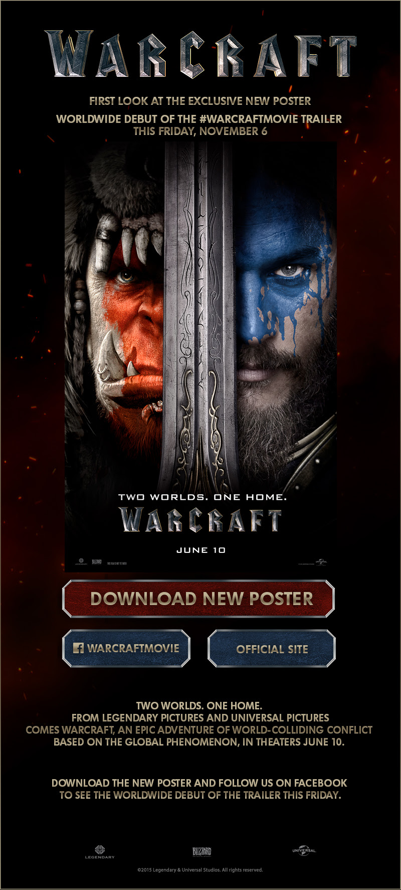 Warcraft - Poster First Look - Trailer Premieres This Friday