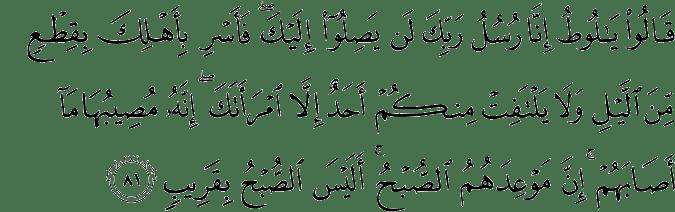 Tafsir Al Quran Surat Hud Ayat 81 90 Dan Terjemahan