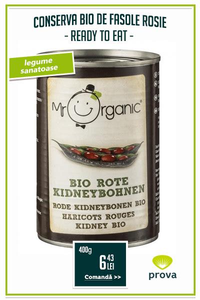 Conserva bio de fasole rosie, 400g - Mr. Organic