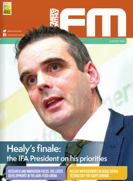 Image shows cover of August Irish Farm Monthly magazine
