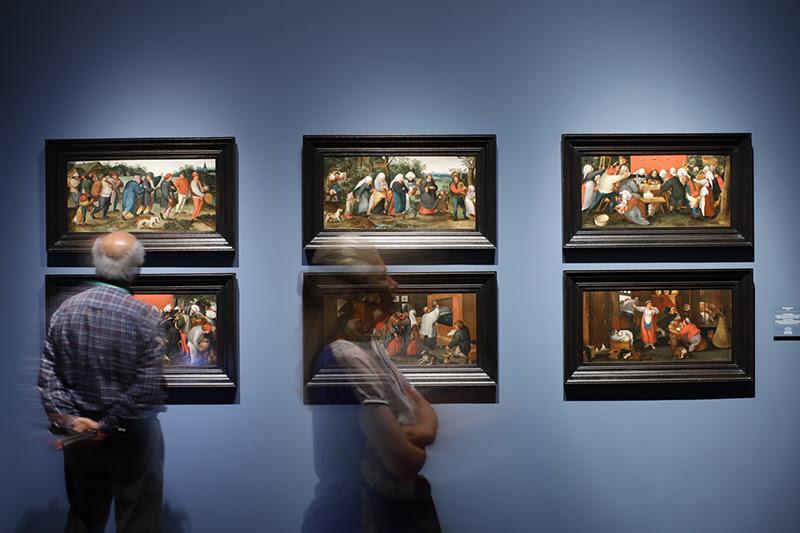 Vista de la exposición Brueghel. Maravillas del arte Flamenco ©Jesús Varillas, cortesía Arthemisia
