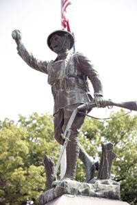 Damaged Doughboy Statue