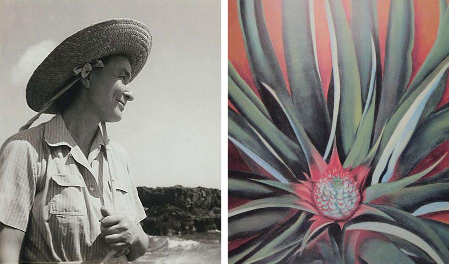 Quando Georgia O'Keeffe foi para o Havaí para pintar Abacaxis para Dole