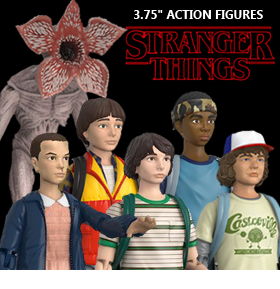 "STRANGER THINGS 3.75"" ACTION FIGURE THREE PACKS"