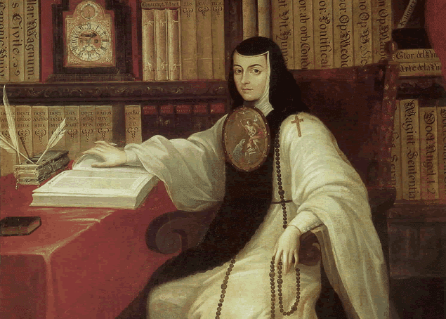Portrait of Sor Inés de la Cruz (1648-1695), a nun of New Spain (Mexico) and contributor to the Spanish Golden Age.