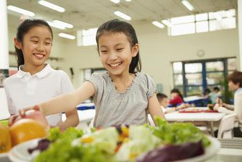 Healthy food at school