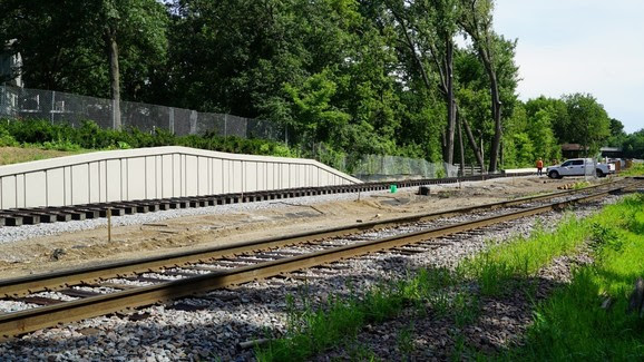 Weekly Construction Photo: New Freight Rail Track in Kenilworth Near Cedar Lake Channel