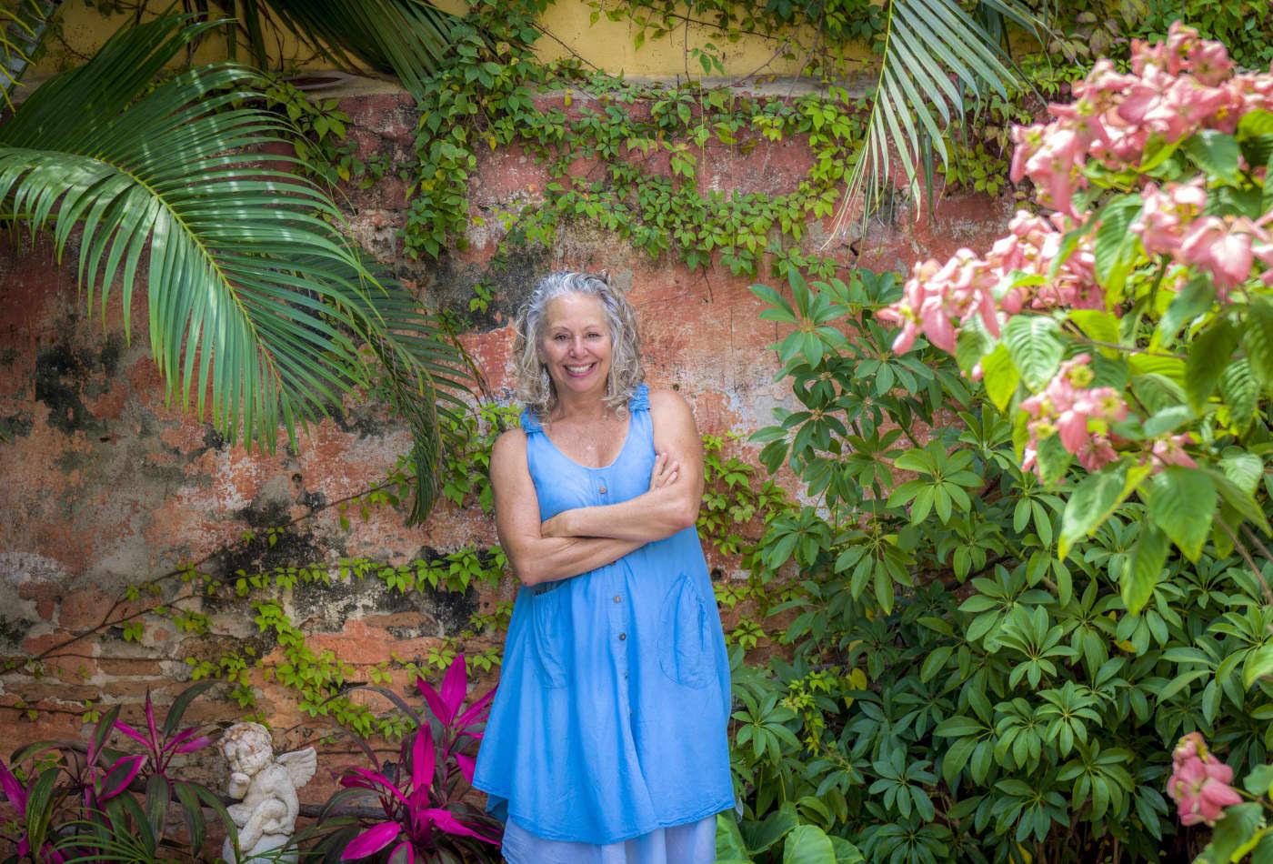 A autora, Janet Blaser, em Mazatlán, México.