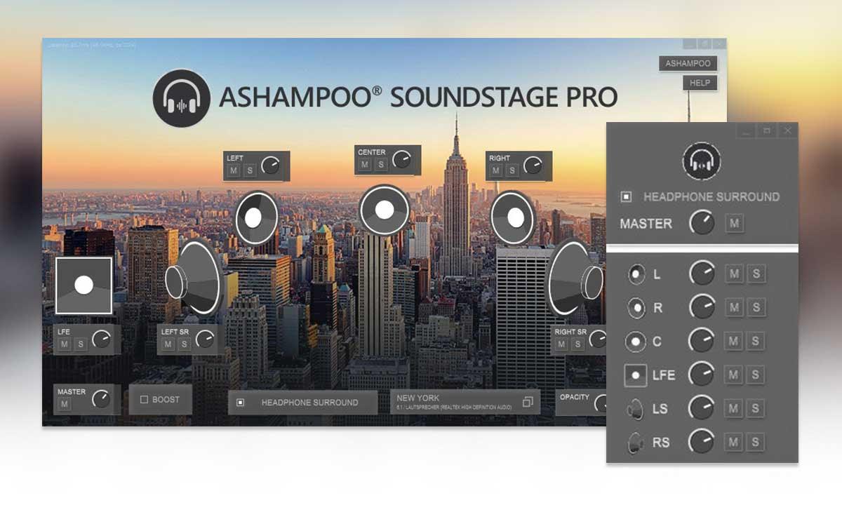 Ashampoo Soundstage Pro Screenshot