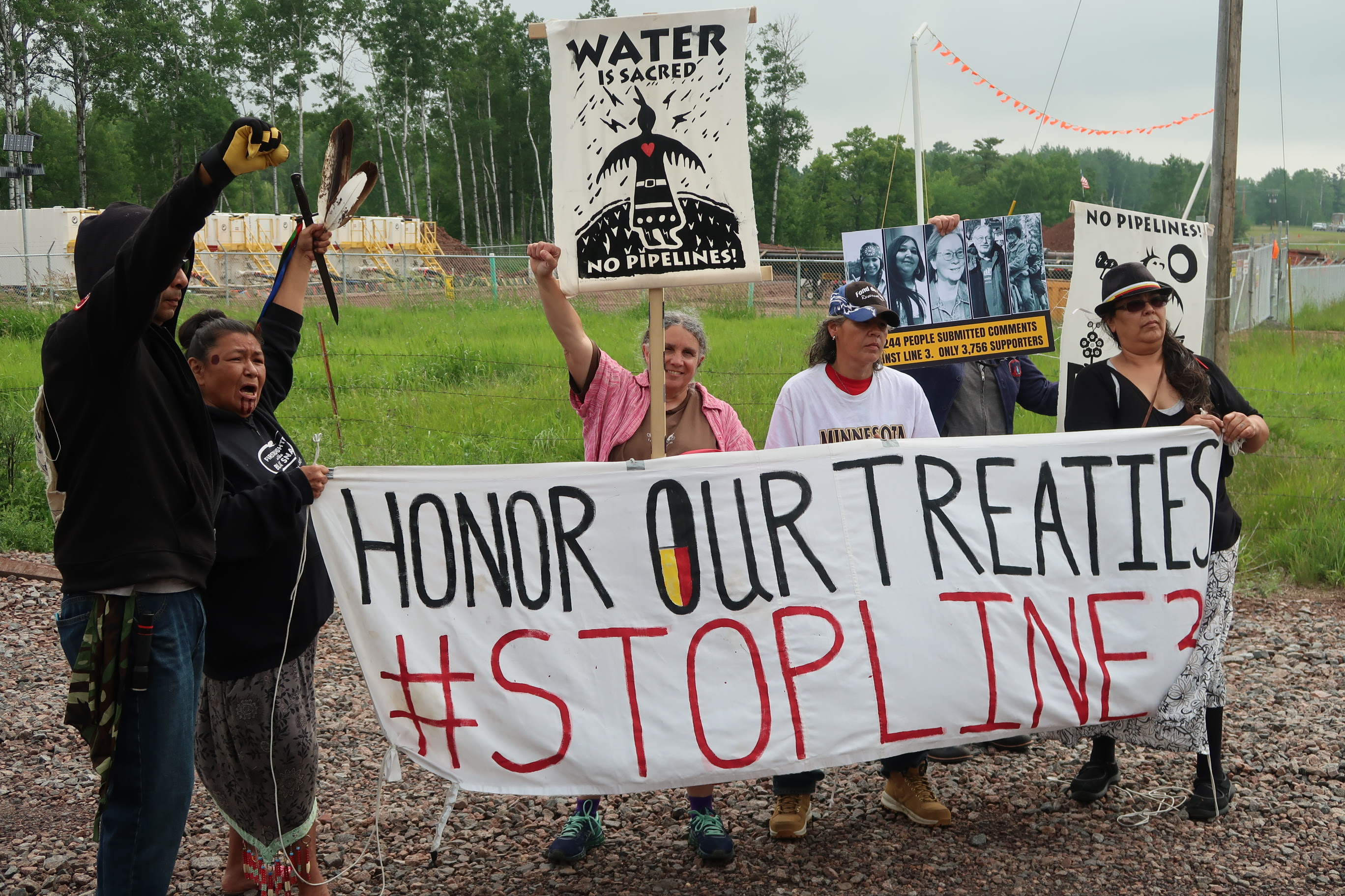 Enbridge Pipeline Opponents Vow To Stop Line 3 Replacement At   Wisconsin-Minnesota Border | Wisconsin Public Radio