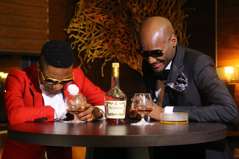Excited 2Face and Wizkid