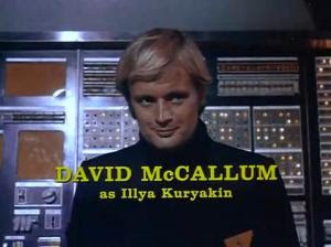David McCallum's main titles credit in the final season