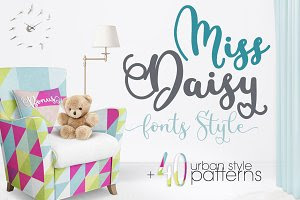 Miss Daisy Fonts+Patterns+Freebies