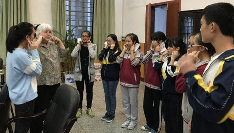 Singing with Yangshuo High School Students