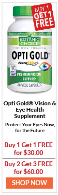 Opti Gold Vision & Eye Health Supplement Protect your eyes now, for the future